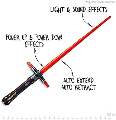 *BRAND NEW *2PIECE SPACE SWORD LIGHTSABER WITH MOTION ACTIVATED SOUND FOR SALE