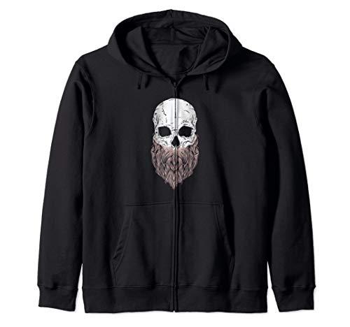 Bearded Skull - Halloween Costume Idea Zip Hoodie -