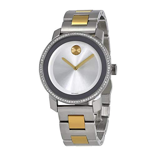 Movado Bold Silver Dial Diamond Ladies Watch 3600451