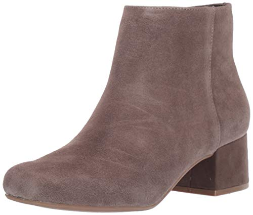Kenneth Cole REACTION Women's Road Stop Ankle Boot, Dark Taupe, 8.5 Medium US