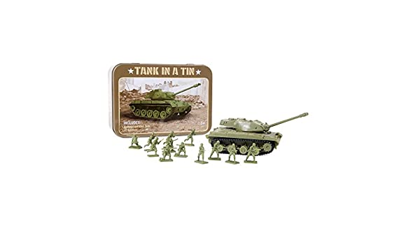 Amazon com: Funtime PL2850 Tank in a Tin Playset: Toys & Games
