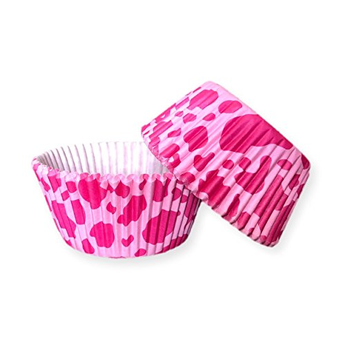 (Bakell - 25 PC Set of Pink Cow Animal Print Cupcake Liners - Baking, Caking and Craft Tools from Bakell)