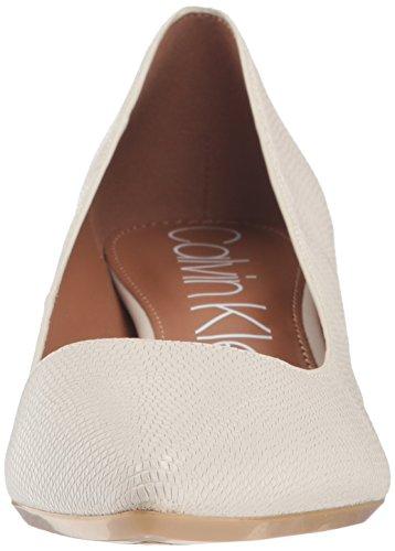 Calvin Klein Women's Gabrianna Pump Soft White Shiny Lizard wMmcUcu1D