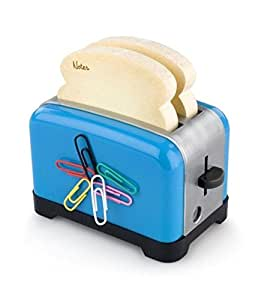 The Notester Blue - Toaster Design Sticky Notes & Sharpener Desk Accessory by Thinking Gifts