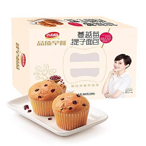 达利园 品质早餐蔓越莓提子面包20枚800g 营养零食饼干蛋糕 Dali Garden Quality Breakfast Cranberry Bread 20 800g Nutritional Snack Biscuit Cakes