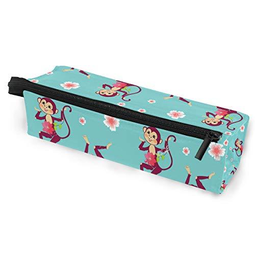 (SLHFPX Cute Monkey Glasses Case Zipper Soft Sunglasses Pencil Bag Protective Pouch)