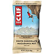 CLIF BAR - Energy Bars - White Chocolate Macadamia Nut Flavor - (2.4 Ounce Protein Bars, 18 Count) Packaging May Vary