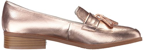 Kenneth Cole Reaction Mujer Jet Ahead Dress Detalle De La Borla Metallic Slip-on Loafer Rose