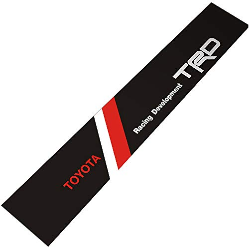 (Demupai Front Windshield Banner Decal Vinyl Car Stickers for Toyota TRD Racing Development (Black Background))