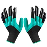 Garden Genie Gloves with Fingertips Claws on Right Hand & Left Hand for Digging Planting,Waterproof Gardening Tools for Men and Women(8 Claws)
