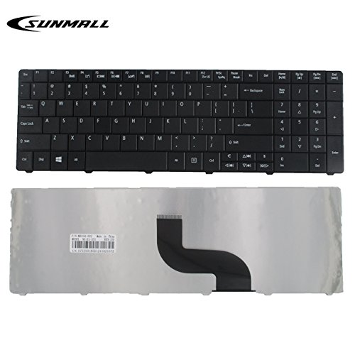 SUNMALL Keyboard Replacement for Acer Aspire E1-521 E1-531 E1-531G E1-571 E1-571G Travelmate P253-E P253-M 8571 8531 8751G 8572 5742Z 5744 5744Z Series Laptop Black US Layout (6 Momths Warranty) (Keyboard Travelmate Acer)