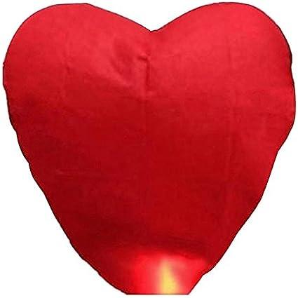PIXNOR Sky Lantern Lanterna Kongming Cinese a Forma di Cuore Che Desiderano Lampade Rosso