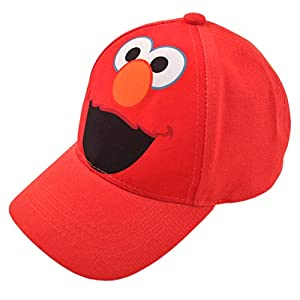 Sesame Street Toddler Boys' Elmo Cotton Baseball Cap, Light Red, Age 2-4
