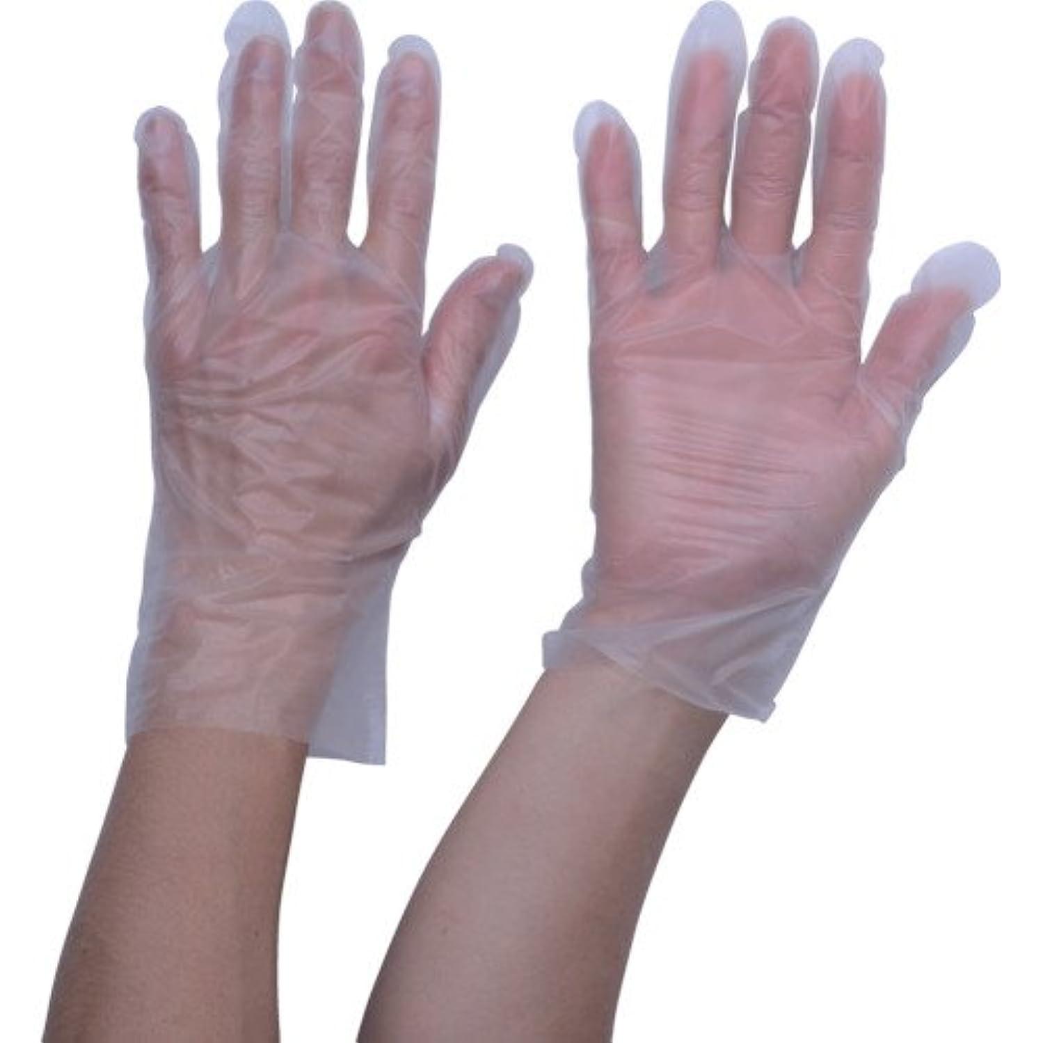 素晴らしさ麺デジタルTRUSCO ポリエチレン 使い捨て手袋 ウェーブカットタイプL (100枚入)(入数:100枚) TGCPE025L