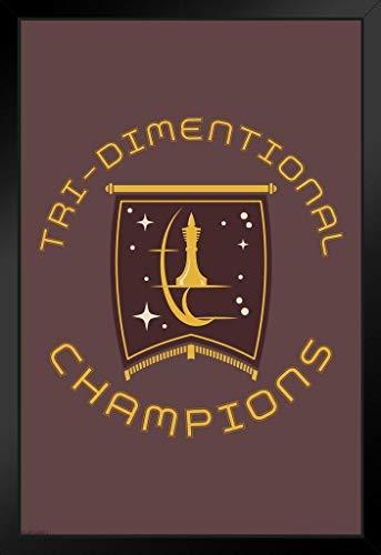 Pyramid America Star Trek Starfeet Academy TriDimensional Chess Champions Framed Poster 14x20 inch