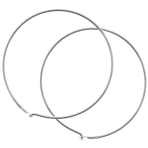 Beadaholique SS/700/30 Sterling Earrings Beading Hoops, 1.2-Inch, - Finding Beading
