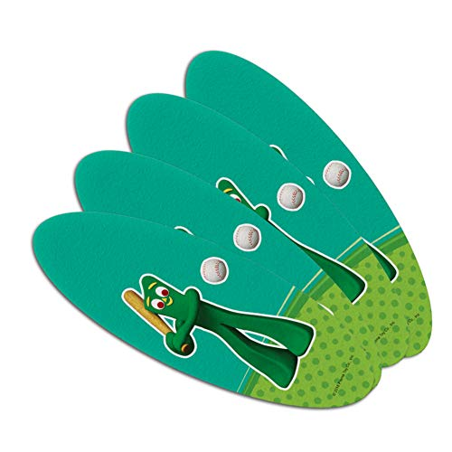 Baseball Player Gumby Double-Sided Oval Nail File Emery Boar