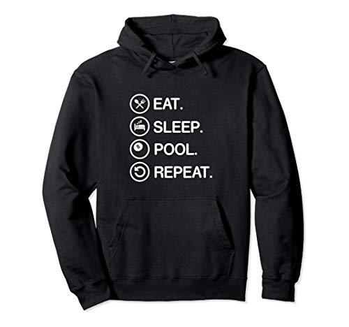 Eat Sleep Pool Repeat Funny Billiards Player Hoodie Gift