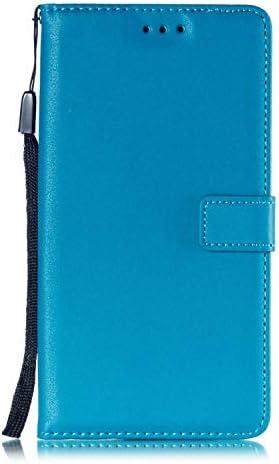 Huawei Mate 20 ケース Zeebox® 手帳型 PU レザー カード収納 スタンド 機能 ストラップ付き ファーウェイHuawei Mate 20 おしゃれ 人気スマホケース 衝撃吸収 全面保護 カバー –ブルー