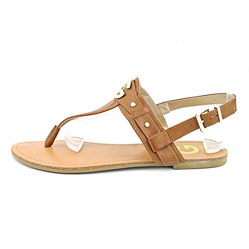 G By Guess Lundon-X Womens Size 6.5 Brown Faux Leather Slingback Sandals Shoes