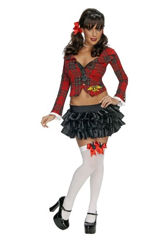 Secret Wishes Women's Playboy Prep Sassy School Girl Adult Costume, Multicolor, -