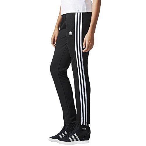 adidas Originals Womens Europa Tracksuit Bottoms - Black - 12 (Adidas Originals Tracksuit Women)