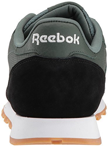 Reebok Mens Cl Leather Estl Sneaker Verde Gesso / Nero / Bianco Gomma