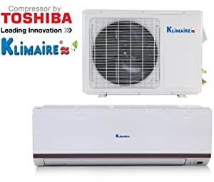 klimaire 9000 btu 13 seer mini split ductless. Black Bedroom Furniture Sets. Home Design Ideas