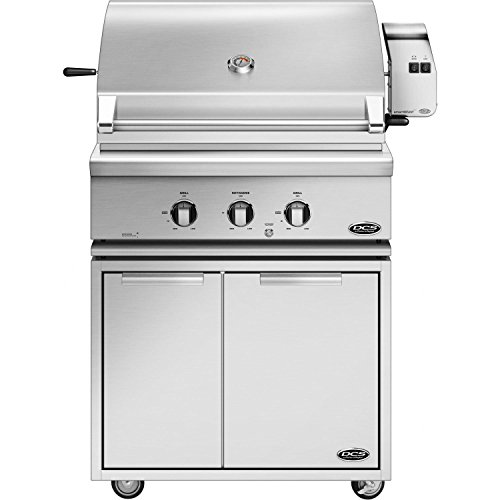 (Dcs Professional 30-inch Freestanding Natural Gas Grill With Rotisserie On Dcs Cad Cart - Bh1-30r-n)