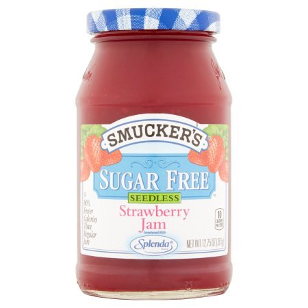 Smucker's Sugar Free, Seedless Strawberry Jam, 12.75 OZ (Pack of 2) (Jam Strawberry Sugar Free)