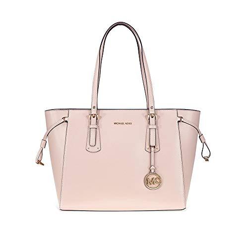 (MICHAEL Michael Kors Voyager Medium Leather Tote - Soft Pink)
