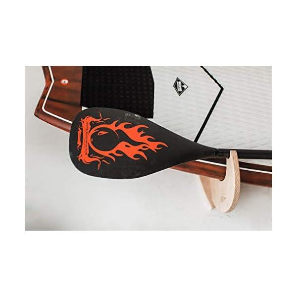Premium Rack realizzati a mano per SUP e Windsurf - Modello Shark Tooth con porta pagaia 6 spesavip