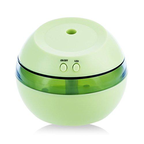 Ultraschall-USB-Luft-Öl-Luftbefeuchter & Mini Auto Weihrauch Mist Reiniger, Haushalts Mute Schlafzimmer und ein Wohnzimmer, Aromaöl-Sauerstoff-Diffusor - grün, iParaAiluRy