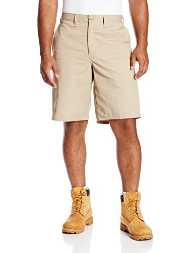 Dickies Occupational Workwear LR642DS 48 Polyester/ Cotton Relaxed Fit Men's Premium Industrial Multi-Use Pocket Short with Hidden Snap Closure, 48'' Waist Size, 11'' Inseam, Desert Sand by Dickies Occupational Workwear (Image #1)