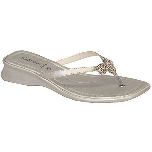 Par Sandal Orteil Diamant Bride House Tongs Sh222613 Argenté Femmes Chaussures 6PgTqnUnw