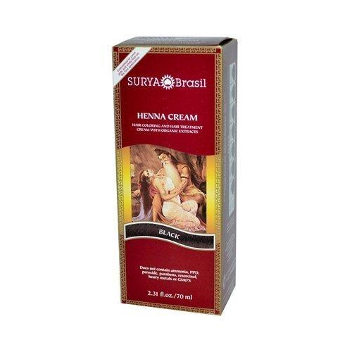 Surya Brasil Henna Cream Black - 2.31 Ounces - 3 PACK