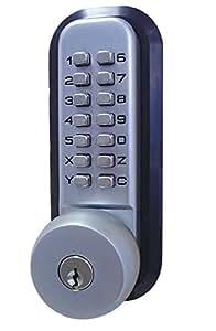 All Weather Mechanical Keyless Deadbolt Door Lock Satin