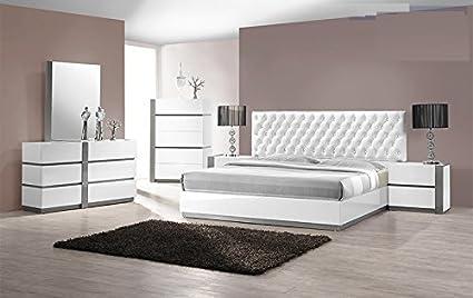 Amazon.com: Modern Seville 4 Piece Bedroom Set Queen Size ...