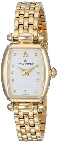 Claude Bernard Women's 'Mini Collection' Swiss Quartz and Stainless-Steel Dress Watch, Color:Gold-Toned (Model: 20211 37JM AID)