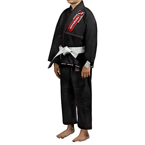Hayabusa Cotton Yuushi Youth Brazilian Jiu Jitsu Gi, BJJ Gi (Black, Y0)