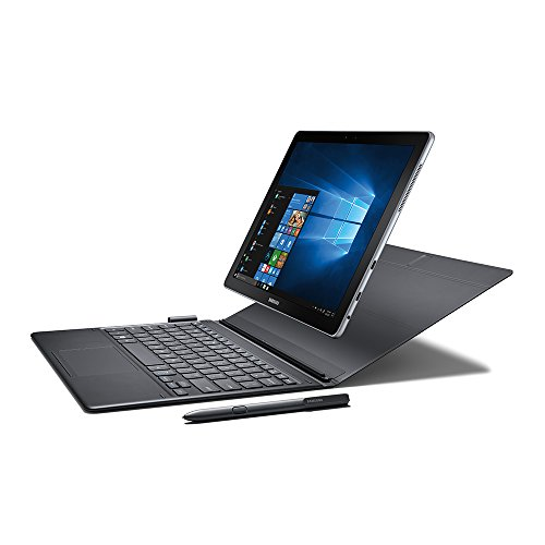 "Galaxy Book 12"" Windows 2-in-1 PC (Wi-Fi) Silver, 4GB RAM/128GB SSD - Samsung SM-W720NZKBXAR"
