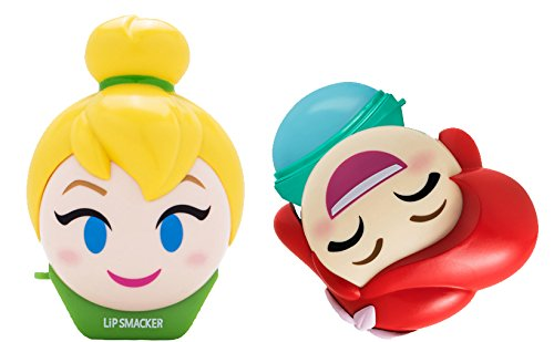 Lip Smacker Disney Emoji Lip Balm Duo, Tinkerbell & Ariel, 0.52 Ounce