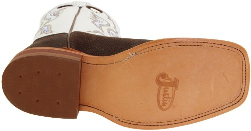 Pictures of Justin Boots Men's U.S.A. Chocolate Bisonte/White Classic 6