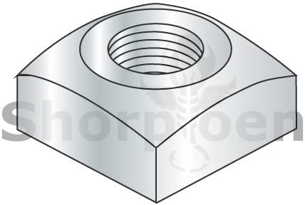Regular Square Nut Zinc 5//8-11 Box of 200 weight19.31Lbs