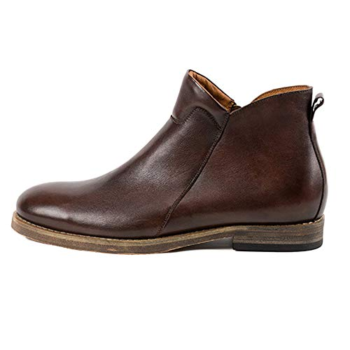 Chelsea Stivali Uomo in Pelle Sicurezza Formale Classico Brogue Retro Martin Stivali High Top Leather Shoes First Layer Leather Brown