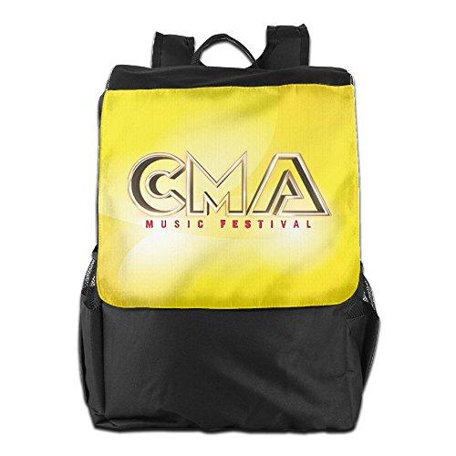Golden CMA Music Festival 2016 Logo Durable Multipurpose Travel School Backpack One Size Black