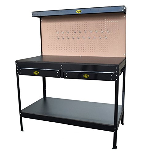 Werkbank Lochwand Arbeitstisch Werktisch Schubladen Arbeitsplatte Werkzeugtisch
