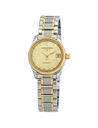 Longines Master Champagne Dial Automatic Ladies Two Tone Watch L2.128.5.38.7