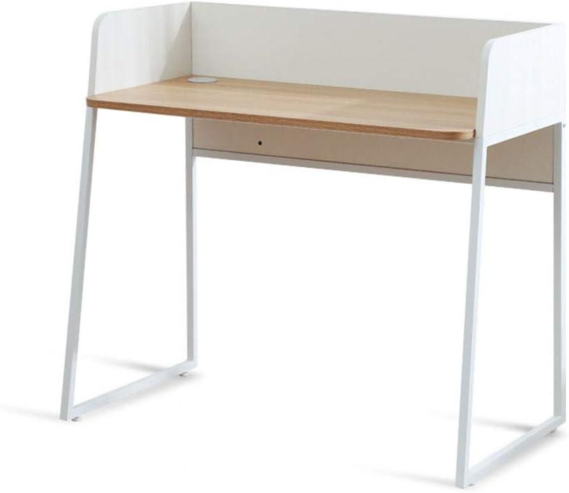 コンピューターデスク ホームオフィス現代のシンプルな省スペースライティングコンピュータ用 北欧風 (Color : White, Size : Free size)