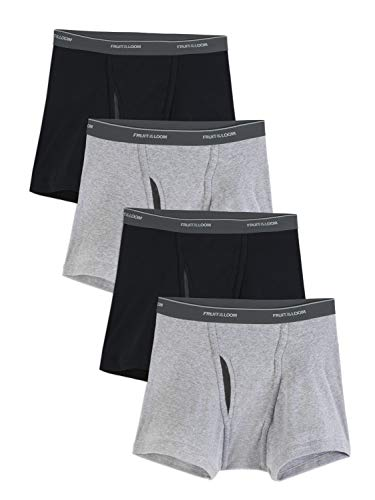 Fruit of the Loom Men's CoolZone Boxer Briefs, Short Leg - Black/Gray, XX-Large (Gray Mens Briefs)
